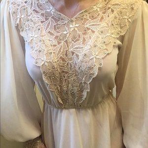 Vintage union made tea length wedding dress